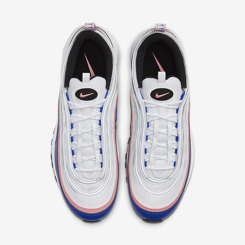 Swoosh Detailing Updates This Nike Air Max 97 In Bubblegum Pink & Blue 2 laces