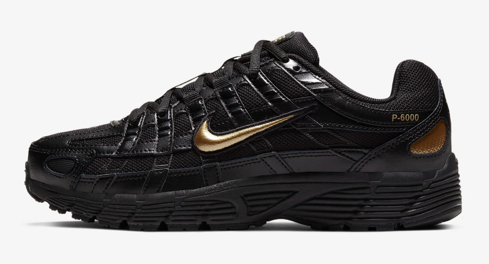 CJ9584-002 The Nike P-6000 Has Had An AW19 Makeover In Black And Gold 5