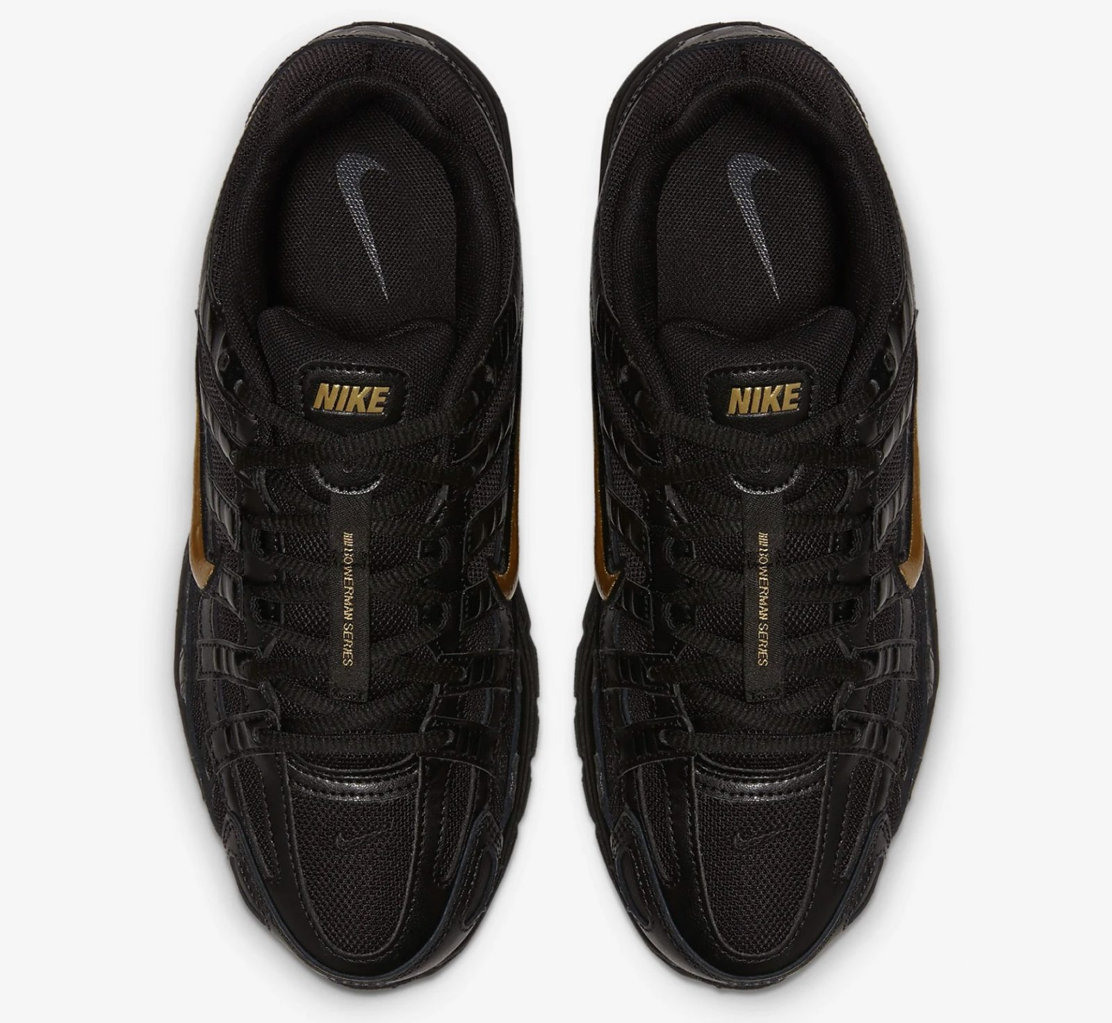CJ9584-002 The Nike P-6000 Has Had An AW19 Makeover In Black And Gold 5 laces