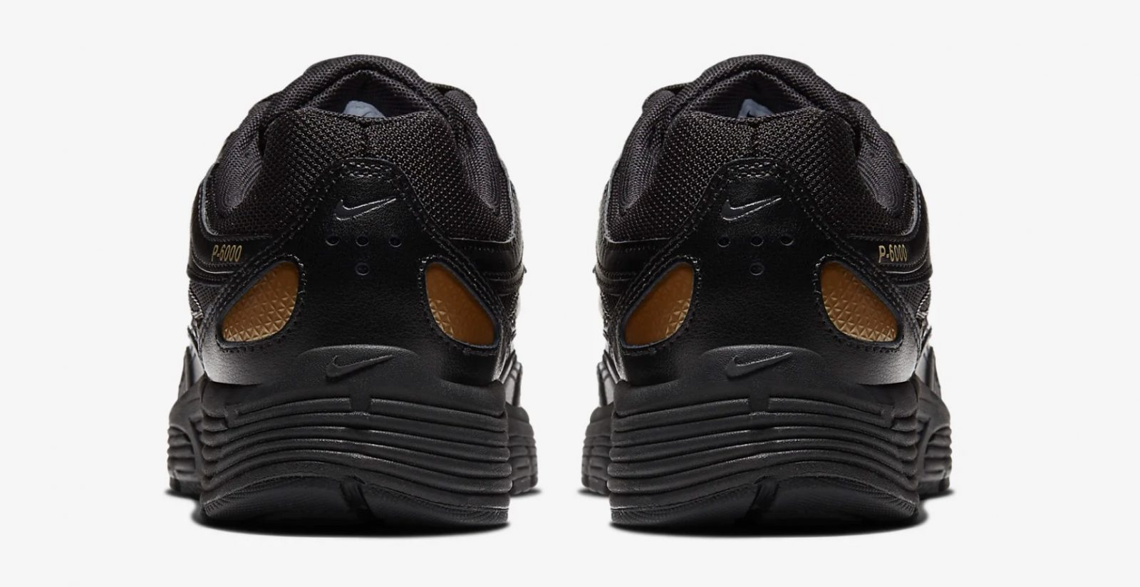 CJ9584-002 The Nike P-6000 Has Had An AW19 Makeover In Black And Gold 5 heel