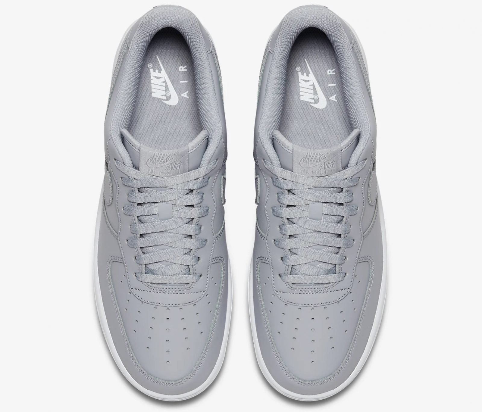 This Wolf Grey Air Force 1 Is Giving Us All The Minimal Feels 5 laces