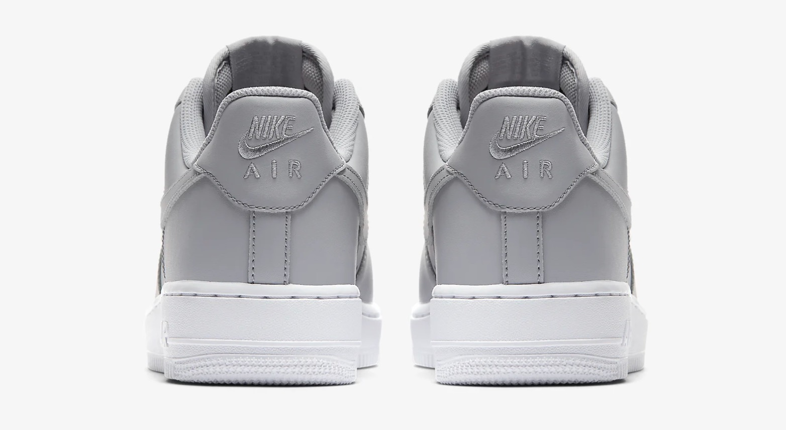 This Wolf Grey Air Force 1 Is Giving Us All The Minimal Feels 5 heel
