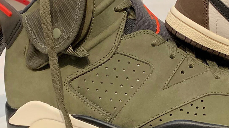 Travis Scott x Nike Air Jordan 6 Cactus Jack CN1084-200 closeup