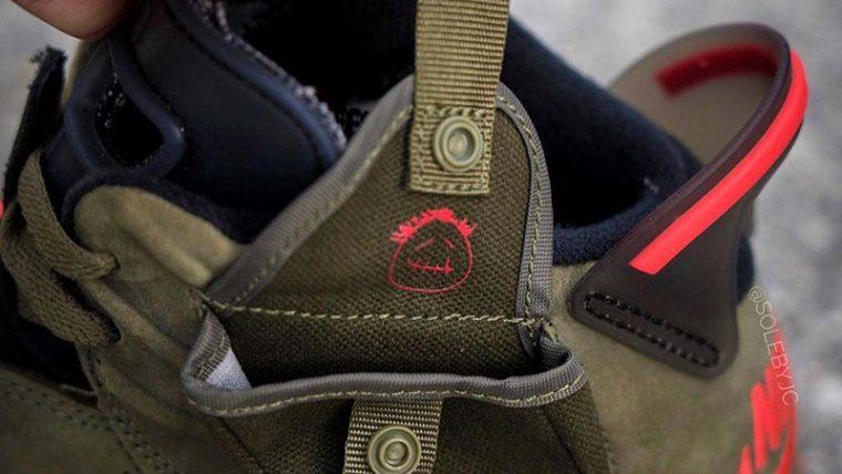 Travis Scott x Nike Air Jordan 6 Cactus Jack CN1084-200 heel thumbnail image