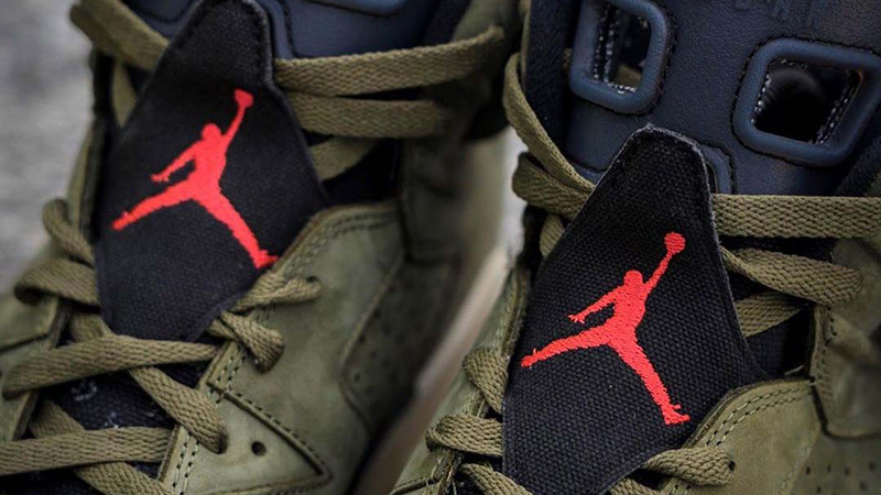 Travis Scott x Nike Air Jordan 6 Cactus Jack CN1084-200 tongue