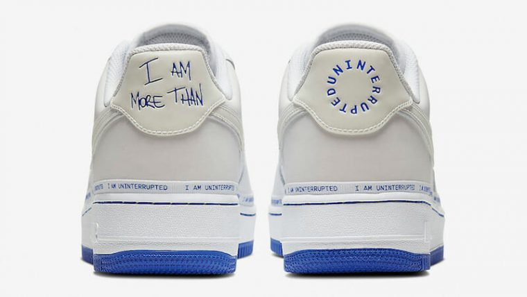 Uninterrupted x Nike Air Force 1 MTAA White CQ0494-100 back thumbnail image