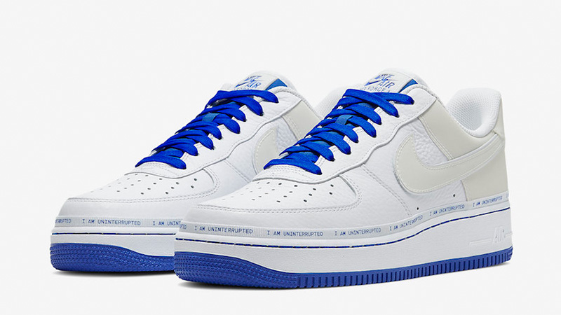 Uninterrupted x Nike Air Force 1 MTAA White CQ0494-100 front