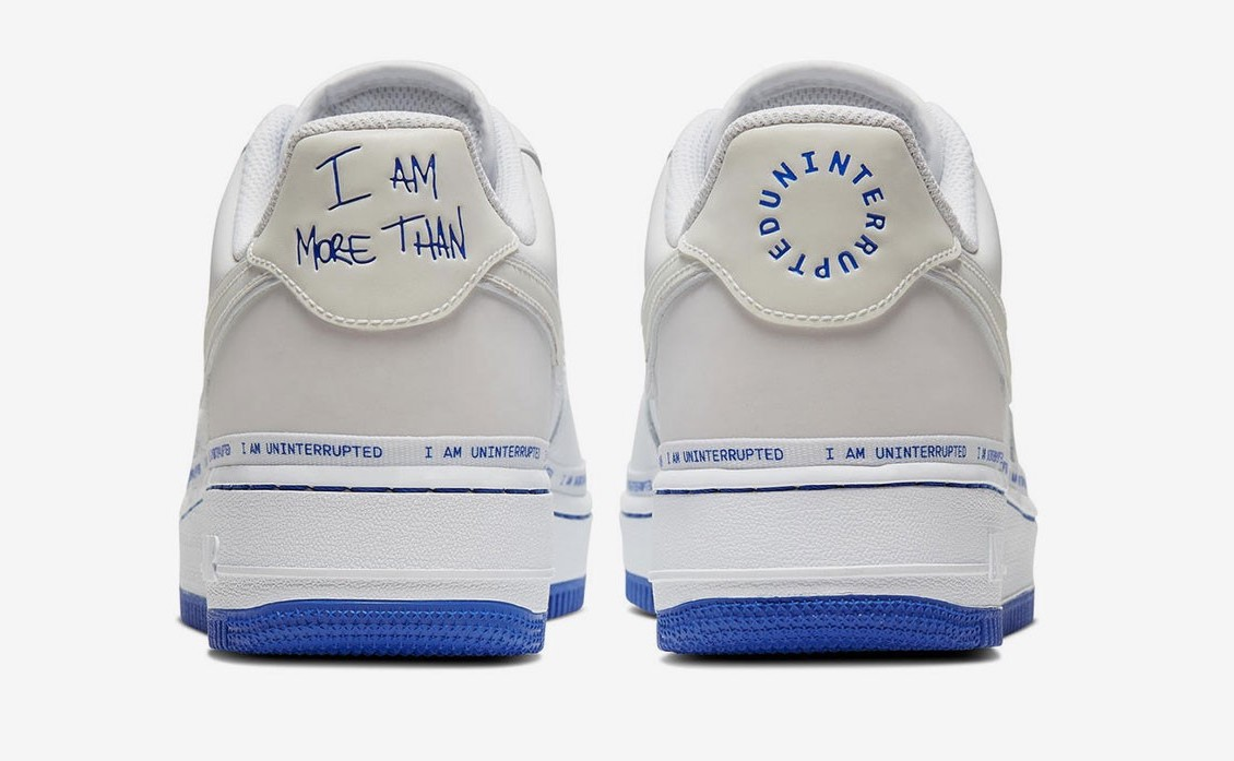 Uninterrupted x Nike Air Force 1 back