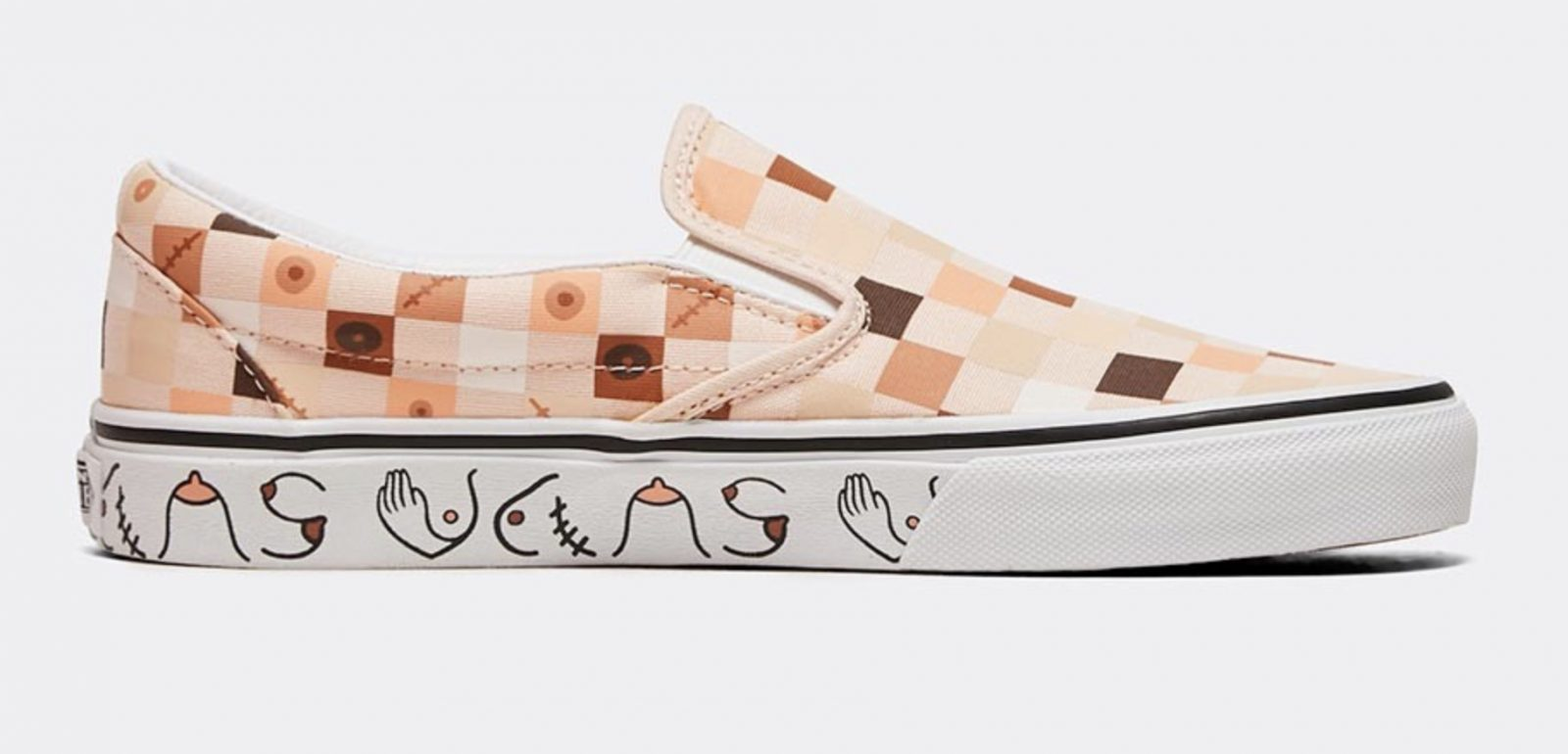 Vans Classic Slip On Breast Cancer Awareness Nude 2 side 1