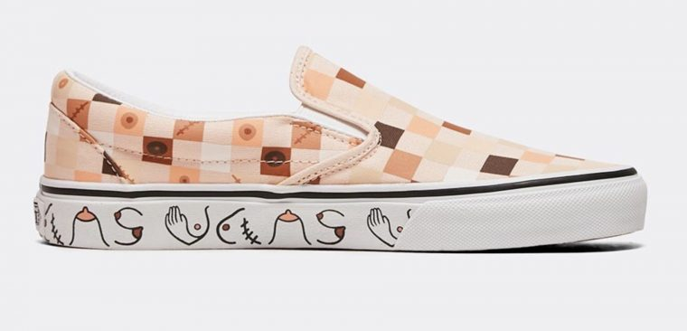 Vans Classic Slip On Breast Cancer Awareness Nude 2 side 1 thumbnail image