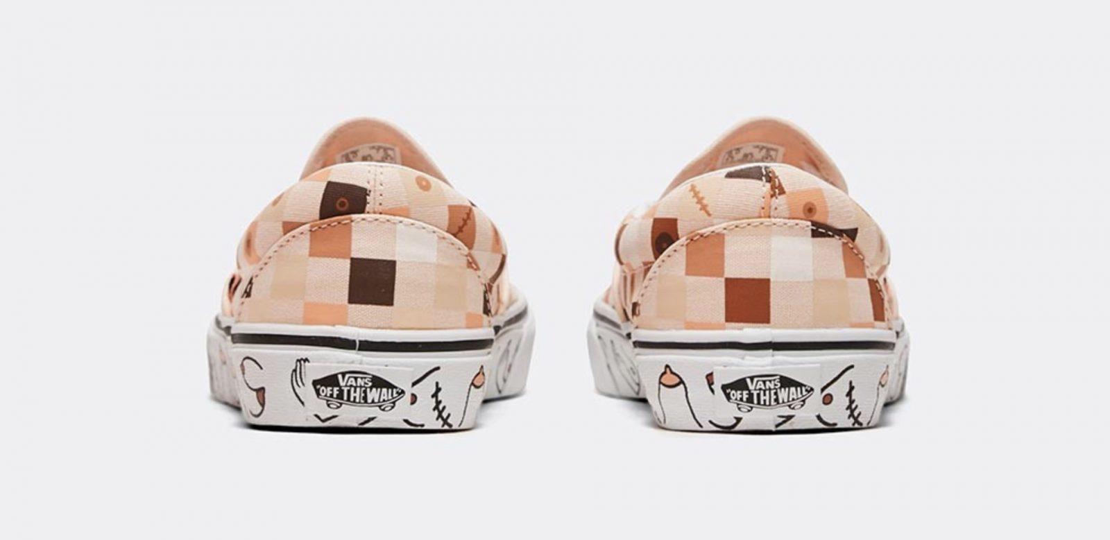 Vans Classic Slip On Breast Cancer Awareness Nude 2 heel