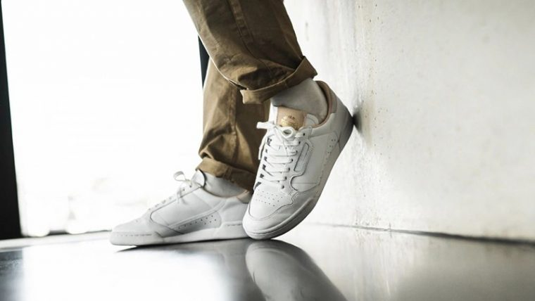 adidas Continental 80 Home of Classics White EF2101 on foot thumbnail image