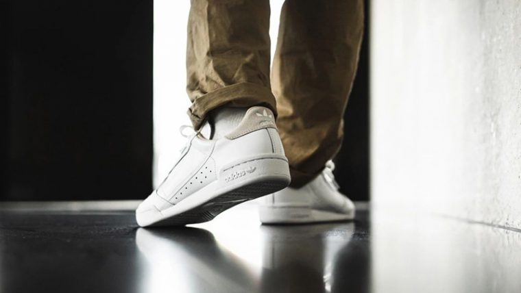 adidas Continental 80 Home of Classics White EF2101 on foot back thumbnail image