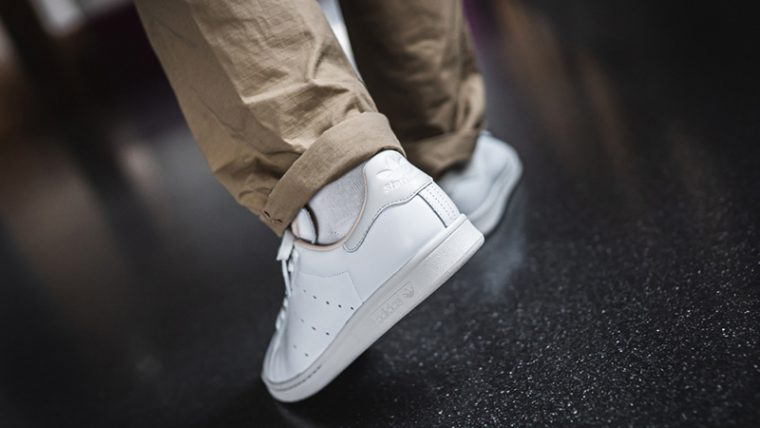 adidas Stan Smith Home of Classics White EF2099 on foot back thumbnail image