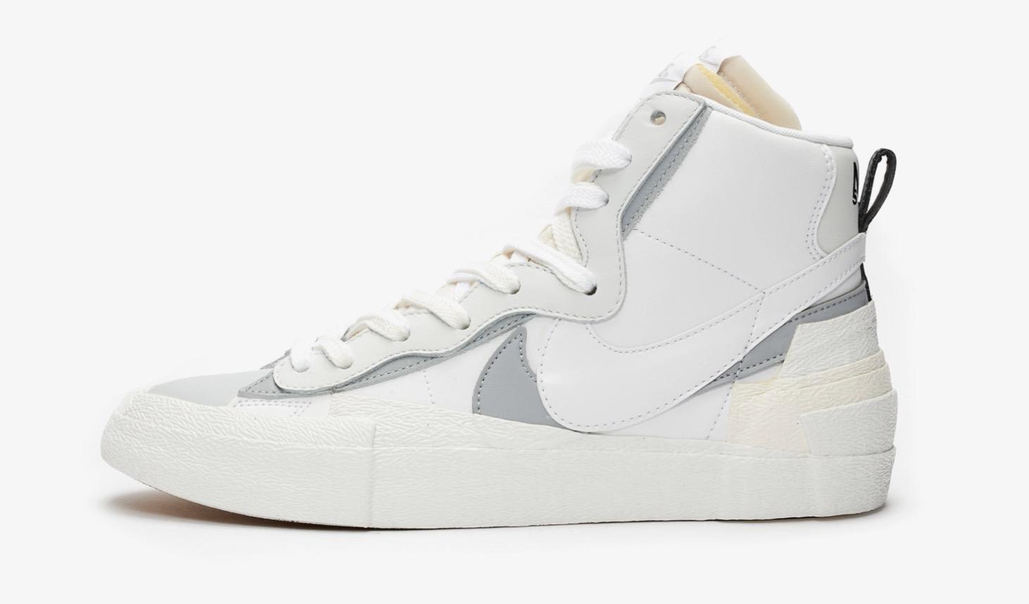 sacai x Nike Blazer Mid White | BV0072-100 1 side