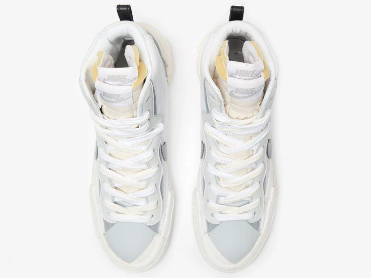 sacai x Nike Blazer Mid White | BV0072-100 1 above thumbnail image