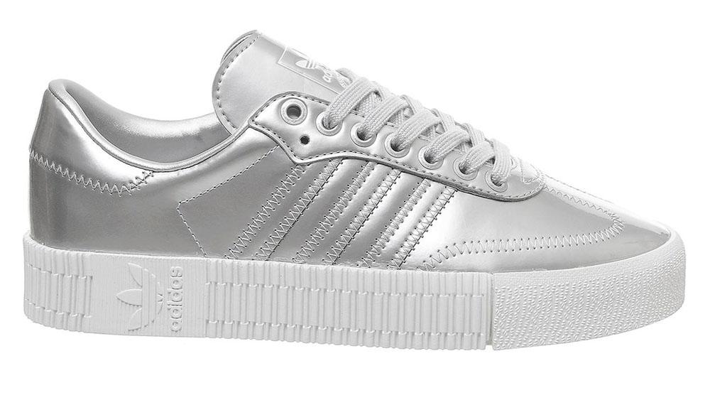 adidas Sambarose Silver White