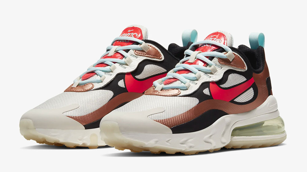 Nike Air Max 270 React Metallic Red Bronze_Teal Tint CT3428-100