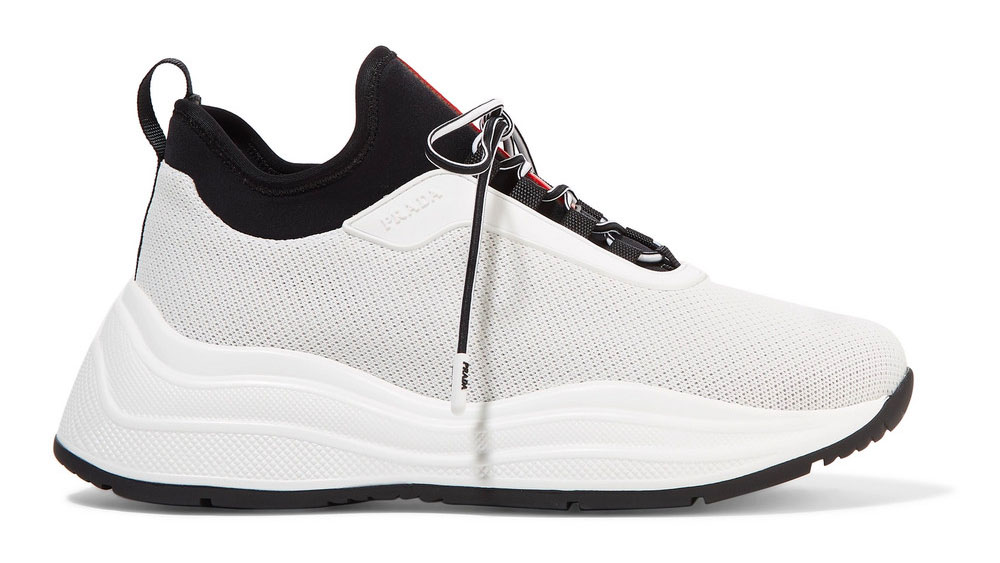Prada America's Cup rubber, nylon and mesh sneakers
