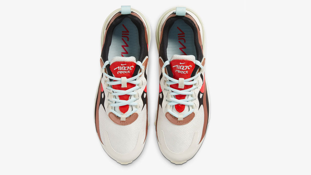 Nike Air Max 270 React Metallic Red Bronze_Teal Tint CT3428-100 laces
