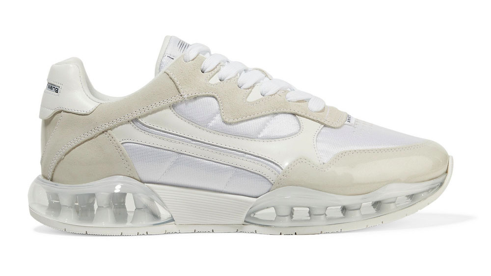 Alexander Wang Stadium leather, suede, PVC and mesh sneakers