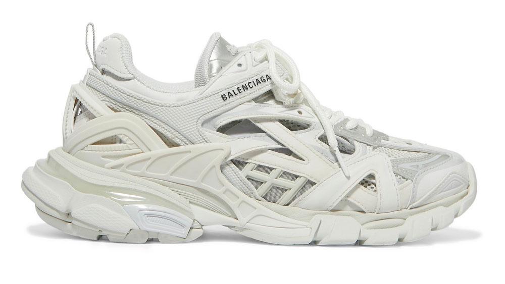 Balenciaga Track 2 logo-detailed metallic mesh and rubber sneakers