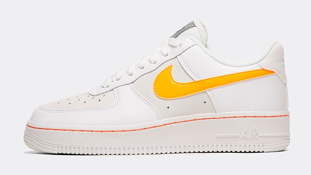 _0005_Nike Womens Air Force 1 Low Trainer _ White _ Total Orange