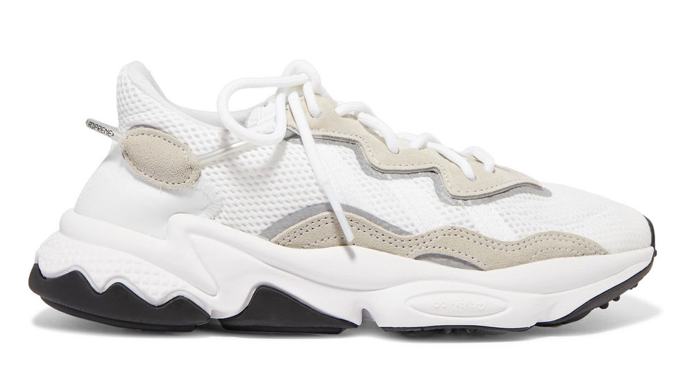 adidas Ozweego suede-trimmed mesh sneakers