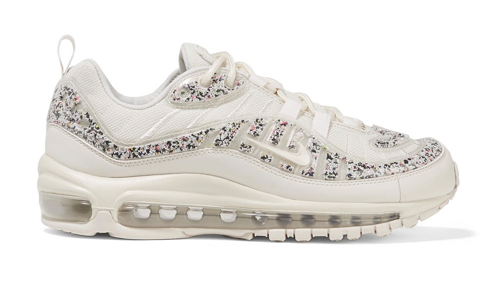 Nike Air Max 98 LX faux leather-trimmed embellished PVC and mesh sneakers
