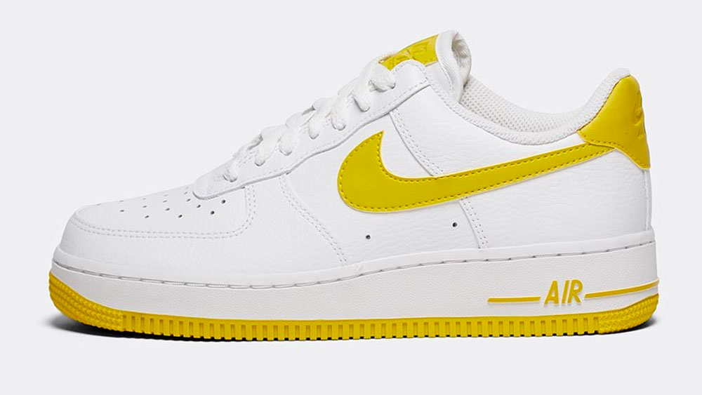 _0008_Nike Womens Air Force 1 '07 Trainer _ White _ Bright Citron