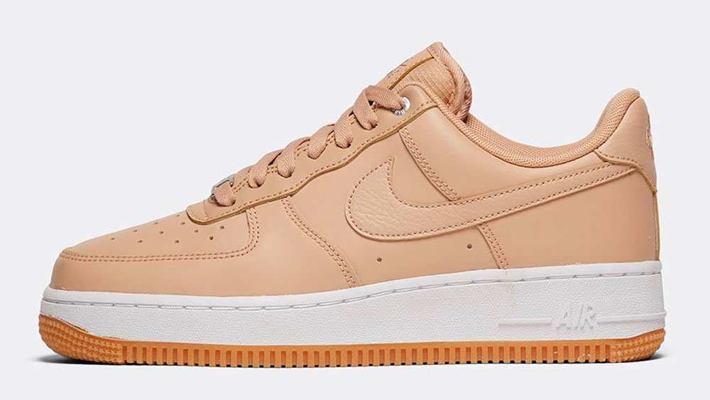 _0011_Nike Womens Air Force 1 '07 Premium Trainer _ Bio Beige _ White _ Gum