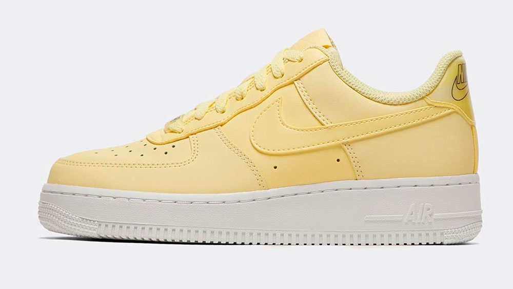_0013_Nike Womens Air Force 1 '07 Essential Trainer _ Bicycle Yellow _ Bicycle Yellow