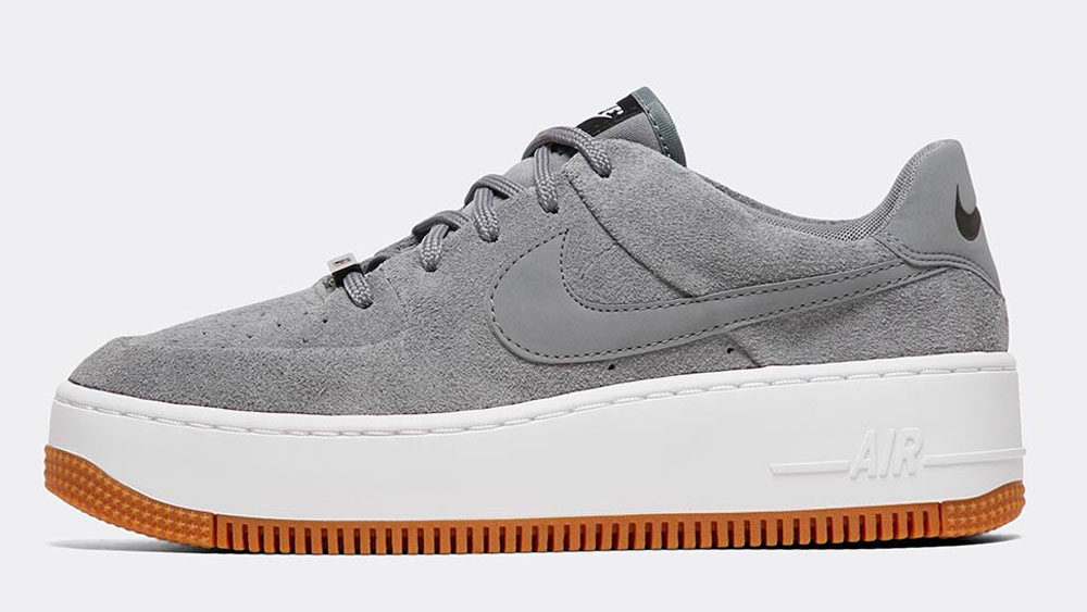 _0015_Nike Womens Air Force 1 Sage Low Trainer _ Cool Grey _ Cool Grey _ Black