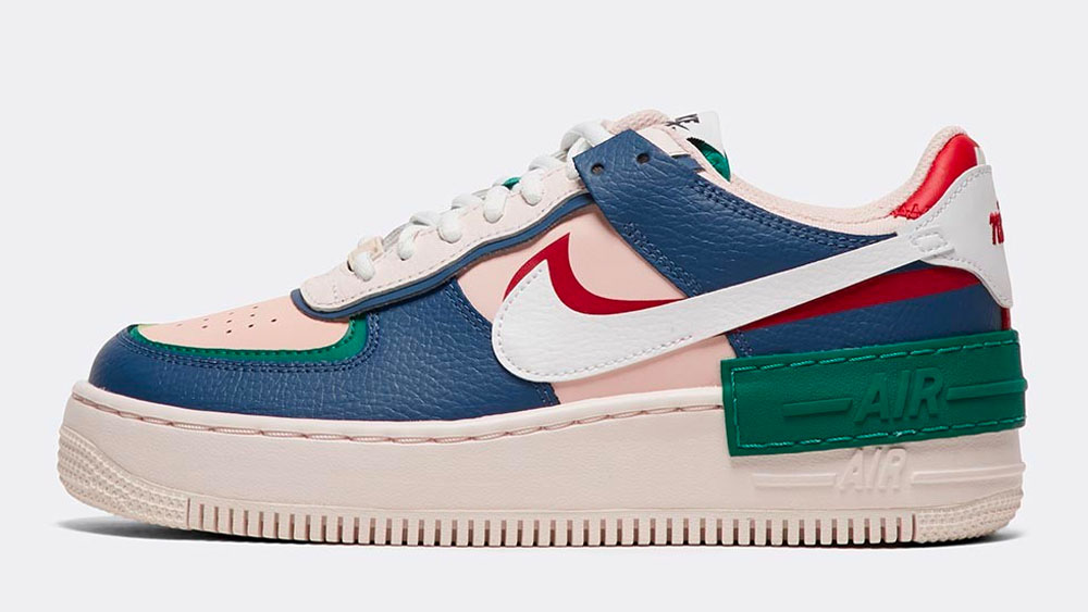 _0018_Nike Womens Air Force 1 Shadow Trainer _ Mystic Navy _ White _ Pink