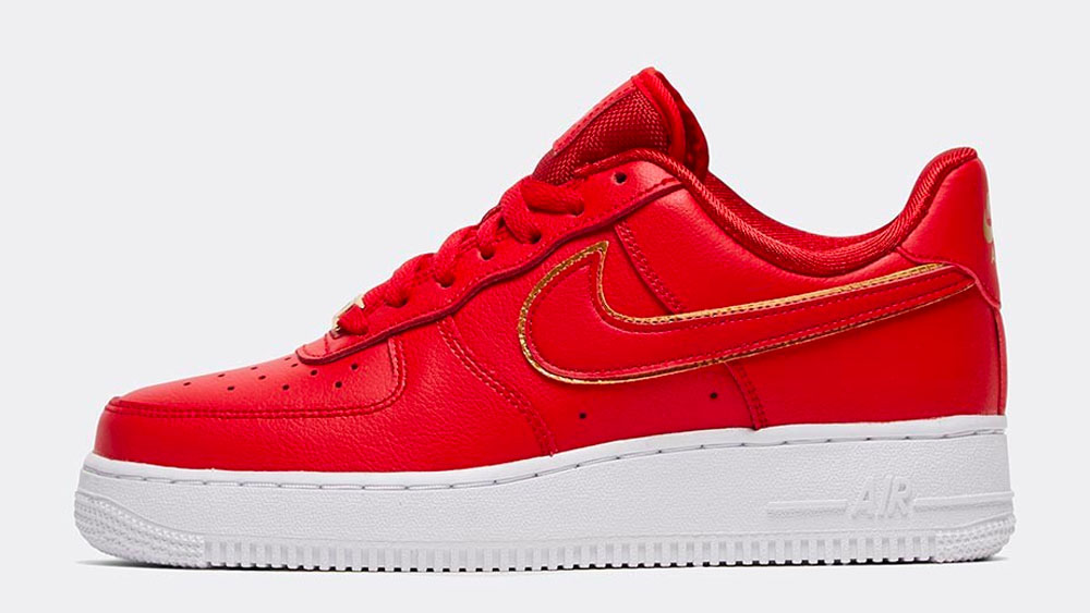 _0028_Nike Womens Air Force 1 _Glam Dunk_ Trainer _ University Red _ University Red