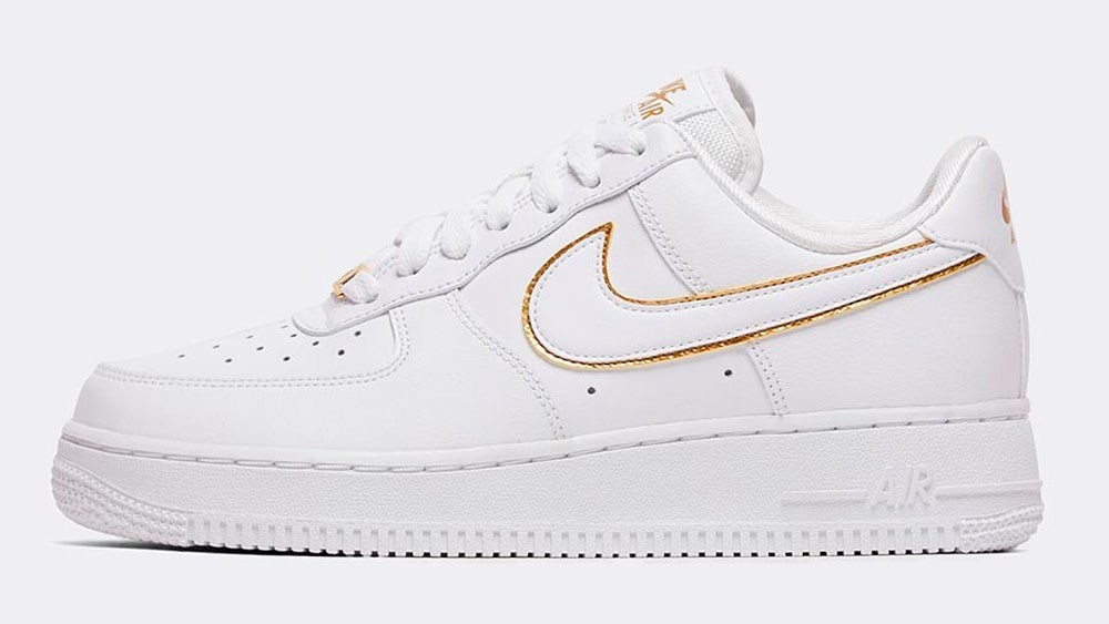 _0029_Nike Womens Air Force 1 _Glam Dunk_ Trainer _ White _ White _ Metallic Gold
