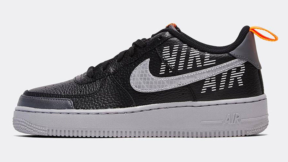 _0031_Nike Junior Air Force 1 'Under Construction' Trainer _ Black _ Wolf Grey _ Dark Grey
