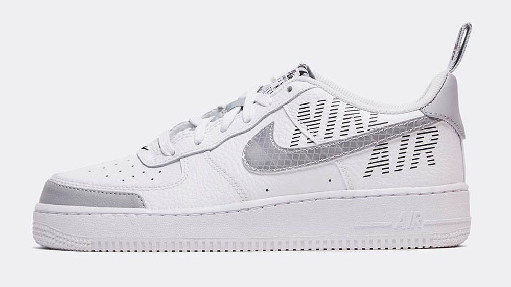 _0032_Nike Junior Air Force 1 'Under Construction' Trainer _ White _ Wolf Grey _ BlackNike Junior Air Force 1 'Under Co