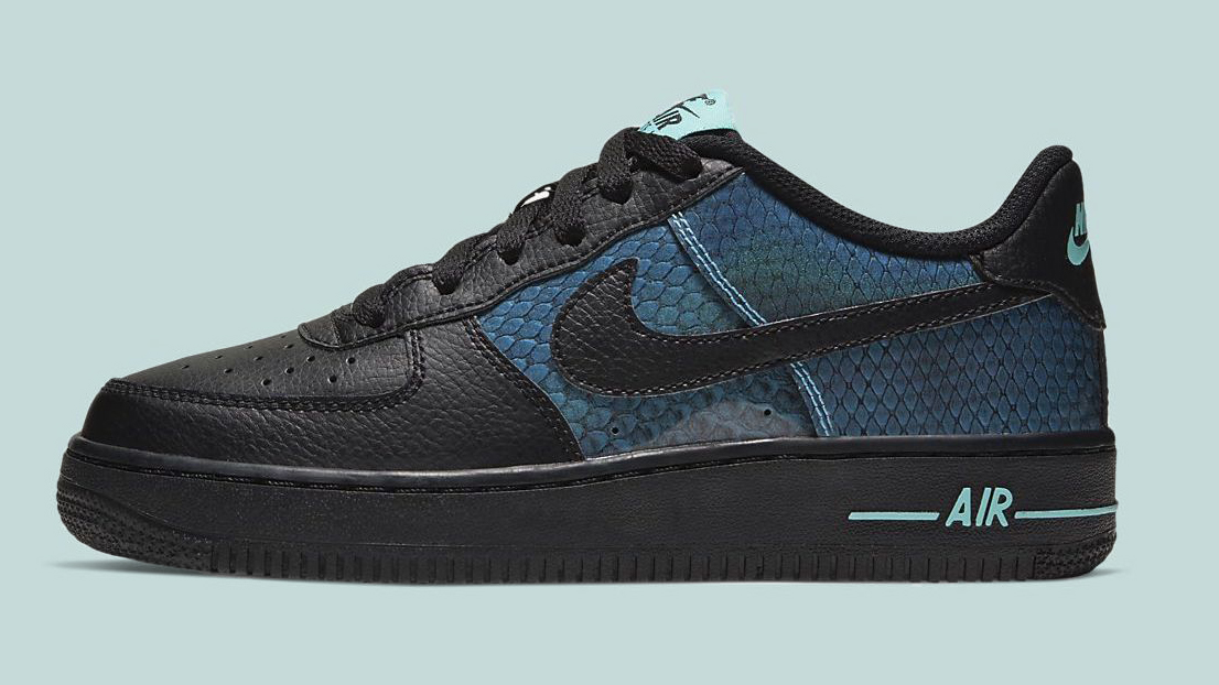 Air Force 1 Black Dragon Scale side copy
