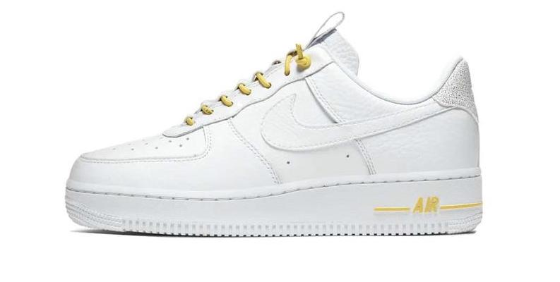 Air Force 1 White Chrome Yellow side