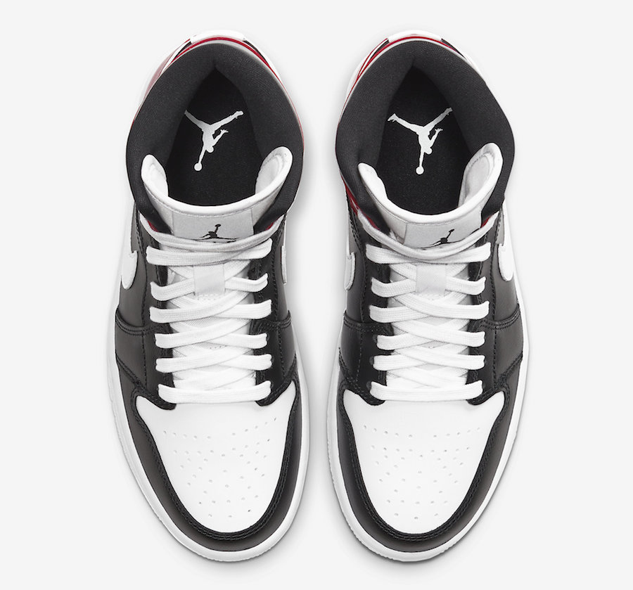 Air-Jordan-1-Mid-WMNS-Black-White-Noble-Red-BQ6472-016-Release-Date laces