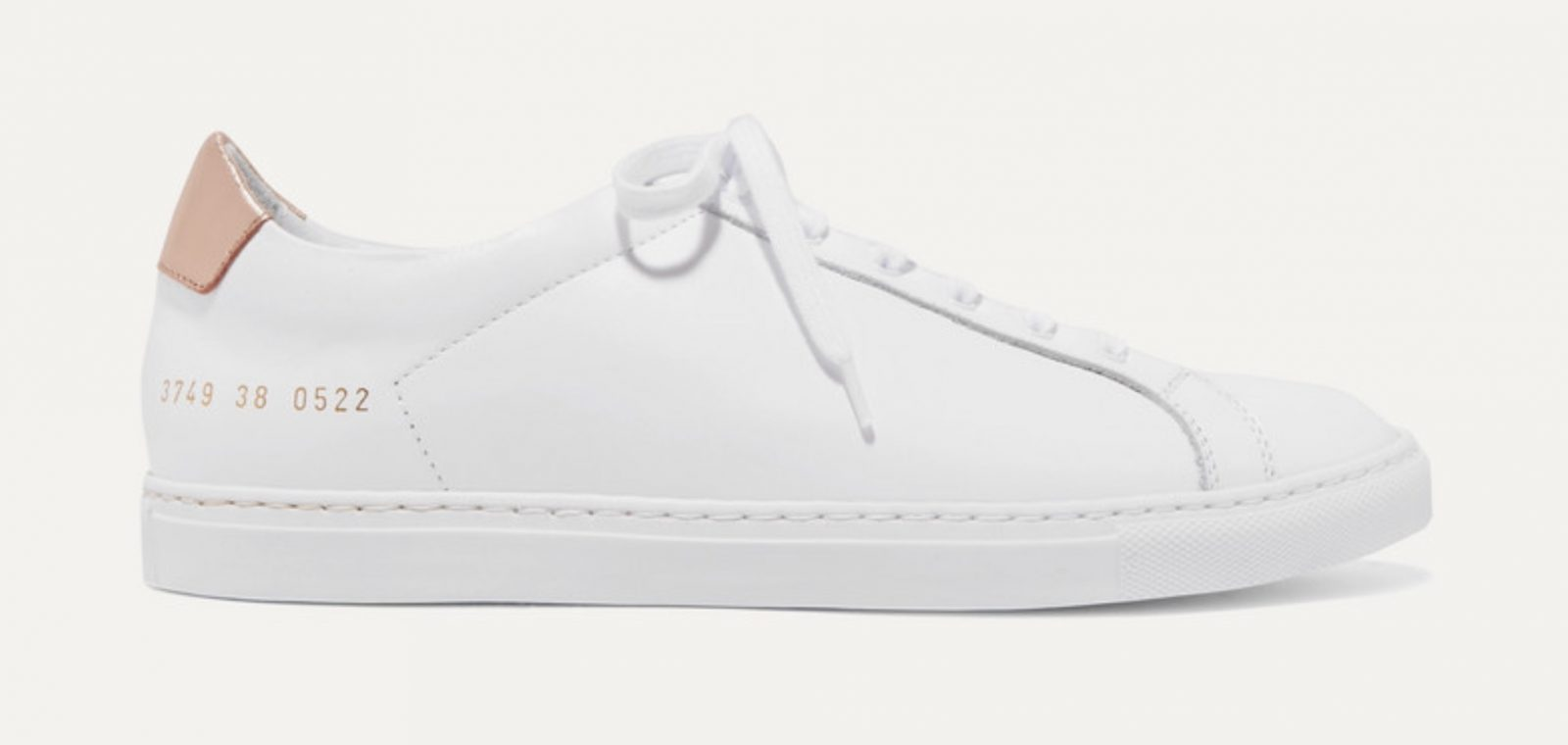 Common Projects Retro metallic-paneled leather sneakers