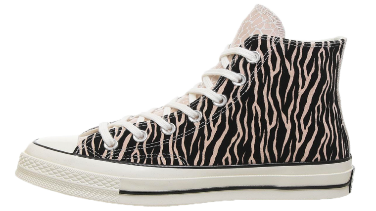 Converse All Star Hi 70s Trainers Natural Snake Zebra