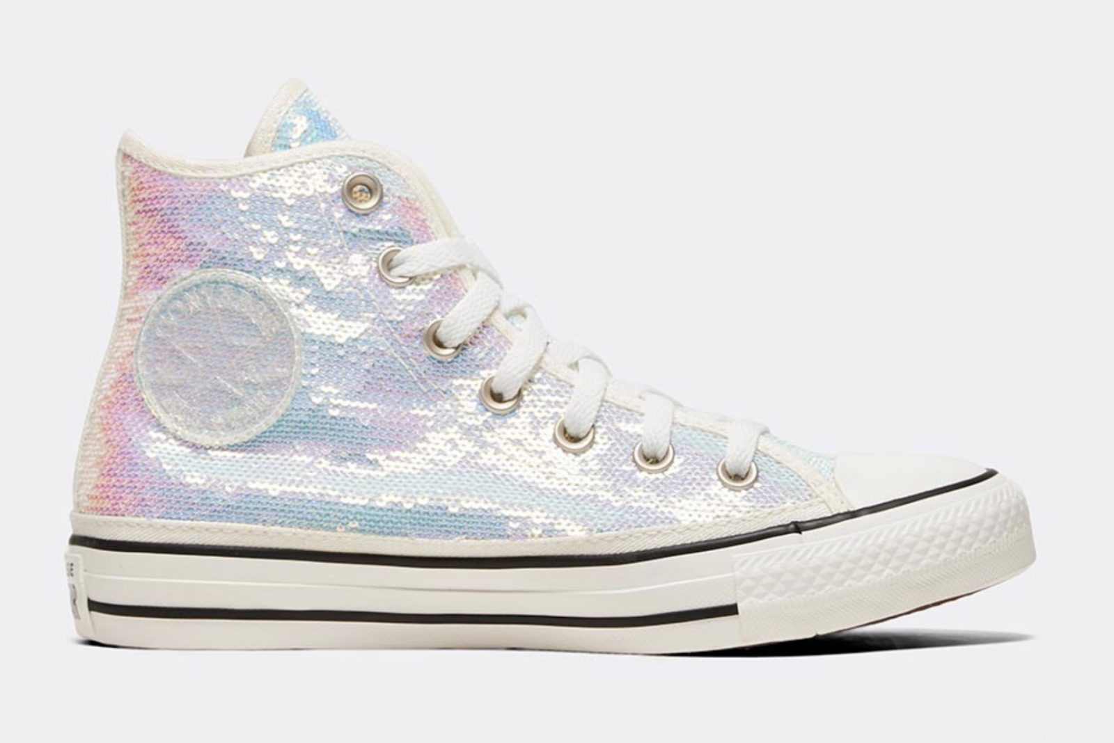Converse Celebrate Their Chuck Taylor Silhouette In A Complete Sequin Look 4 brand tag