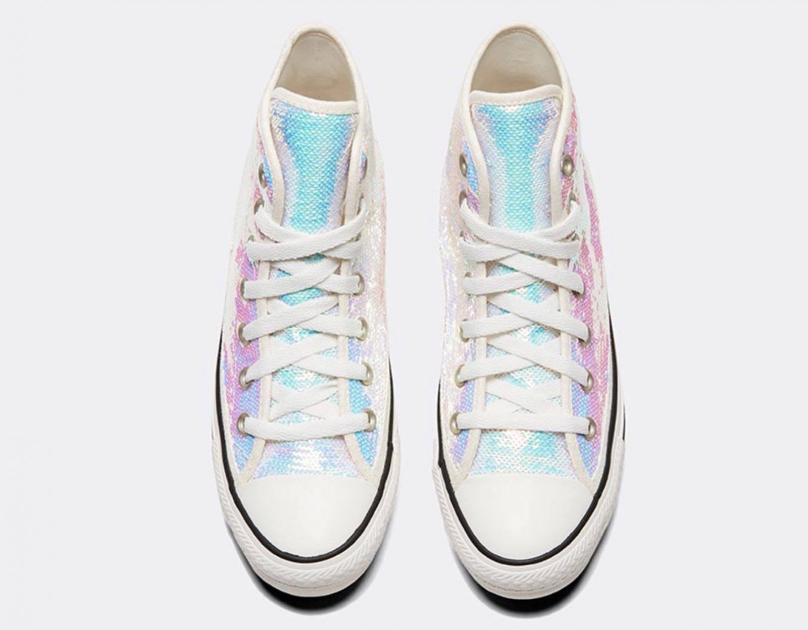Converse Celebrate Their Chuck Taylor Silhouette In A Complete Sequin Look 4 laces