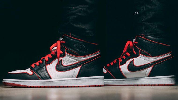 Jordan 1 Bloodline On Foot thumbnail image