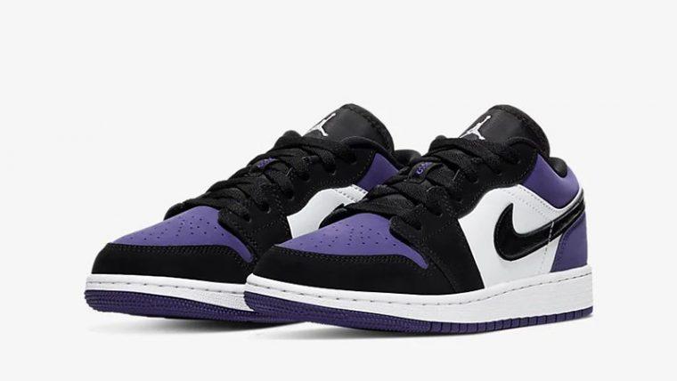 Jordan 1 Low Court Purple 553560-125 front thumbnail image