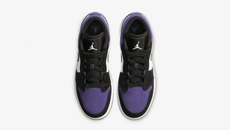 Jordan 1 Low Court Purple 553560-125 middle thumbnail image