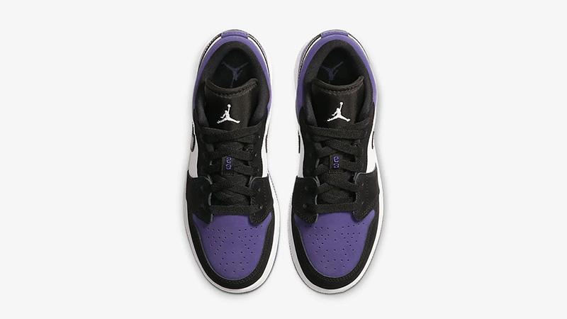 Jordan 1 Low Court Purple 553560-125 middle