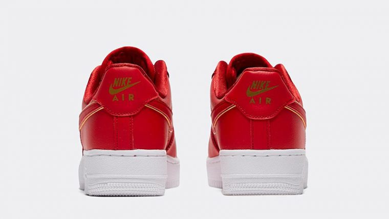 Nike Air Force 1 07 Essential Red back thumbnail image
